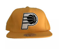 Authentic Mitchell and Ness NBA Indiana Pacers Logo Snapback Hat, Cap, New