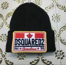 Christmas Gift - DSQUARED2 MEN'S WOOL Black Colour BEANIE HAT NEW size S/M