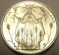 Gem Unc Vatican 1968 F.A.O. 5 Lire~Lady Of The Harvest~100,000 Minted~Free Ship