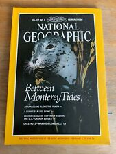 National Geographic FEBRUARY 1990 MONTEREY TIDES,ATHAPASKANS, US/CANADIAN BORDER