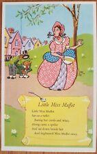 Little Miss Muffet, The Jarrod Nursery Rhyme Series, Postcard