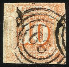 THURN UND TAXIS, 10 SILBERGROSCHEN, 1859, MICHEL # 19, RING CANCELLATION # 99
