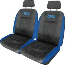 Ford Leather LOOK Seat Covers Front Pair Size 30 Black/blue