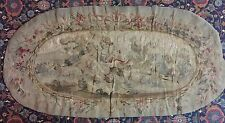 "ANTIQUE 18C AUBUSSON FRENCH HAND WOVEN Silk TAPESTRY PANEL 22"" by 45"""