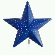 Ikea SMILA STJARNA CHILDREN BLUE STAR BEDROOM WALL LIGHT / NIGHT LAMP