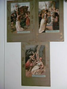 Wagner - GOTTERDAMERUNG - Set of 6 early chromolithographic scenes - rare