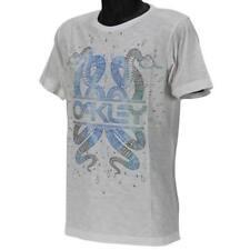 Oakley SNAKES Tee Size M Medium Mens Casual White Slim Fit Cotton Logo T-shirt