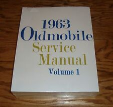 1963 Oldsmobile Service Shop Manual Volume 1 & 2 Set 63