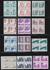 China 1981 R21 China Scenery 1st Print Set of 17 Block of 4 MNH OG VF