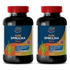 Boost Stamina Caps - Spirulina 500mg - Blue Algae Supplements 2B