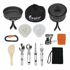 New listing 16pcs Camping Cookware Stove Carabiner Folding Spork Set BisgearTM Outdoor Ca...