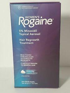 Women's Rogaine 5% Minoxidil Hair Regrowth Treatment 2 or 4 Months Supply