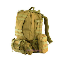 Outdoor Military Molle Assault Tactical Backpack Large Rucksack Backpack Bag Tan