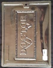 """Medical Large  """"DOCTOR"""" Bar Plaque Chocolate Plastic Candy Soap Mold LOP J-21"""