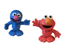 "Playskool Sesame Street Elmo Grover 3"" Figures New Loose"