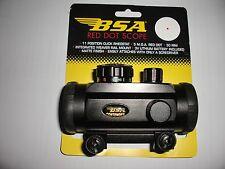BSA 30mm Red/Green Dot Scope w/20mm Weaver mount RD30 6P flashlight hunter scope