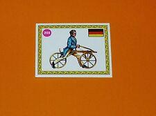 PANINI SPRINT 72 CYCLISME 1972 N°208 VON DRAIS ALLEMAGNE 1816 DRAISIENNE EN BOIS