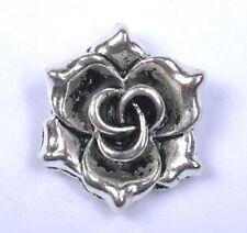 FREE SHIP 5Pcs tibetan silver rose flower pendants 19mm JK0153