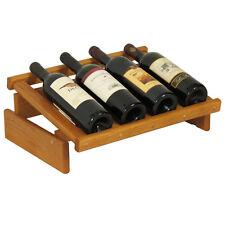 Wooden Mallet 4 Bottle DakotaWine Display- WRD4MO Wine Rack NEW