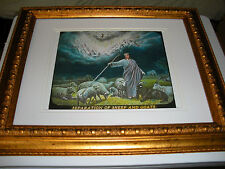 """C. T. Russell Photo-Drama of Creation Photo """"Separating Sheep Goats"""" Watchtower"""