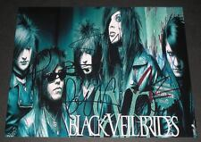 "Black Veil Brides PP Signed 10""x8"" Photo Repro Andy Sixx Jinxx"