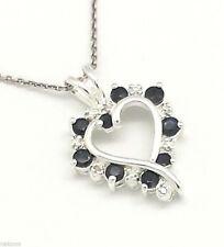 Echtschmuck-Halsketten & -Anhänger mit Saphir und Herz für Damen