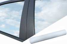 6x Premium a B C Columna Puerta Listones Película Auto Carbono Blanco