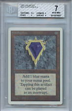 MTG Unlimited Mox Sapphire BGS 7.0 (7) NM with Press Line Variation