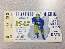 Michigan vs. Stanford 1947 Football Ticket Stub- RARE! National Champions!