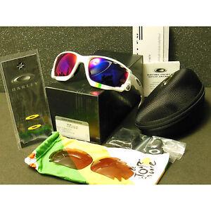 Oakley Racing Jacket Sunglasses Tour de France Pl White/+Red Iridium/VR28 Black