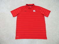 Nike Rutgers Scarlet Knights Polo Shirt Adult Extra Large Red Black Football Men