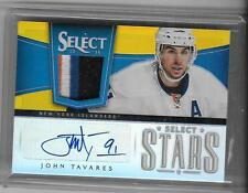 JOHN TAVARES 2013/14 PANINI SELECT 4 COLOR  PATCH AUTOGRAPH AUTO #2/5-ISLANDERS!