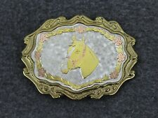 Vintage Horse Western Belt Buckle W Made In Usa