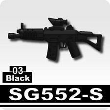 Black M5A1 Assault Rifle for LEGO army military brick minifigures