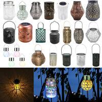 Vintage Garden Solar Powered LED Outdoor Yard Hanging Light Lantern Table Lamp