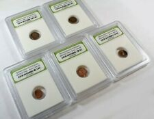 New ListingSlabbed Lot of 5 Ancient Roman Widows Mite Sized Bronze Coins c 50 Bc - 400 Ad i