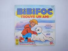 Livre Disque 45T vinyl Dessin animé Bibifoc touve un ami - album petit ménestrel