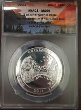 Pictured Rocks 2018 America the Beautiful 5 ounce Silver ANACS MS69