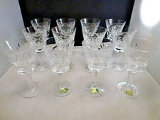 """Waterford crystal """"ASHLEY"""" pattern WINE  glasses 12 pieces SET  OF 12 PERFECT"""