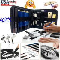 40pcs Professional Drawing Artist Kit Set Pencils and Sketch Charcoal Art Tools