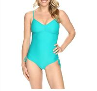 Prana Moorea Deep V Neckline One Piece Shoulder Strap Swimsuit Dragonfly Size S