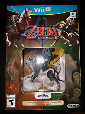 Wii U Twilight Princess Bundle w/ Wolf Link Amiibo Game |BRAND NEW Nintendo WiiU