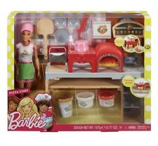 Barbie Cooking & Baking Pizza Making Chef Doll & Play Set New