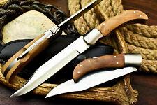 Rare!!! Custom Hand Made D2 Tool Steel Blade Back-Lock Pocket | Folding Knife