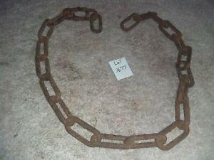 Vintage Rusty Rustic Barn Chain Metal Industrial Primitive Steampunk Art Hanger