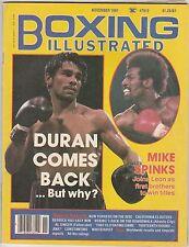 BOXING ILLUSTRATED MAG ROBERTO DURAN-MICHAEL SPINKS BOXING HOFers NOVEMBER 1981