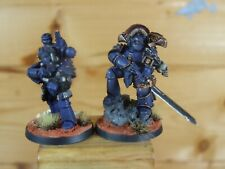 FORGEWORLD SPACE MARINE ULTRAMARINE CHAMPION AND MASTER SIGNALS PAINTED (1434)