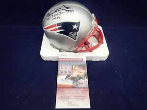 Ben Coates Signed Patriots Mini Helmet W/All Decade Team 1990's - JSA WIT 582561