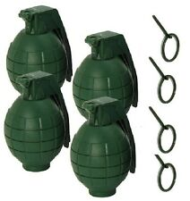 4  Pack GREEN Toy Dummy Grenades WITH SOUND USA Seller * LABOR DAY SPECIAL !*