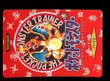 POKEMON BANDAI 1996 RED MONSTERS COLLECTION N° 000 CHARIZARD DRACAUFEU ....
